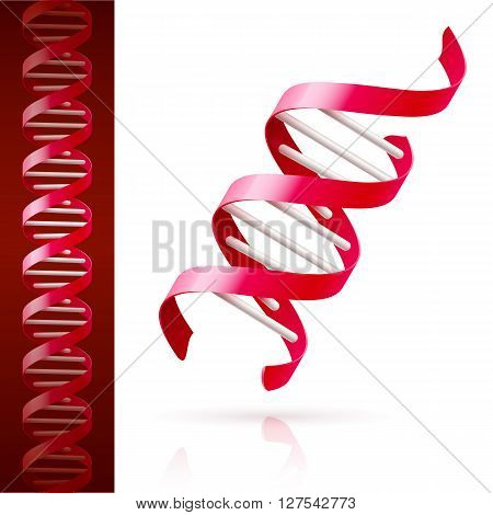 Red DNA background. Science or medicine concept