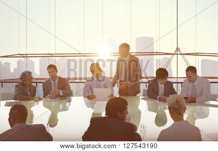 Business People Meeting Cityscape Team Concept