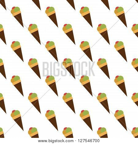 Ice cream pattern seamless best for any design