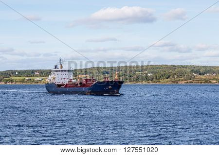 Massive tanker in the sea near Nova Scotia