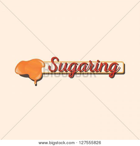 Sugaring icon. stick with sugar paste for epilation