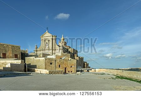 Citadele Church Of Victoria In Malta