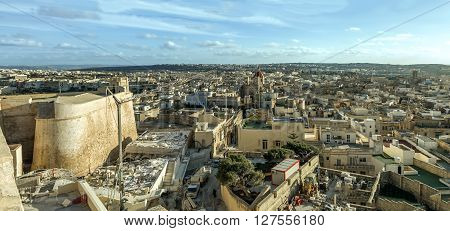 View From Citadele Victoria In Malta