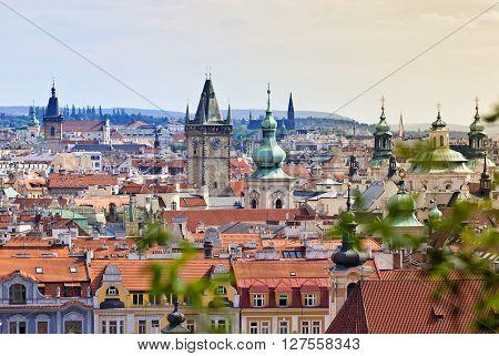 Prague Overview from Letna Hill, Czech Republic