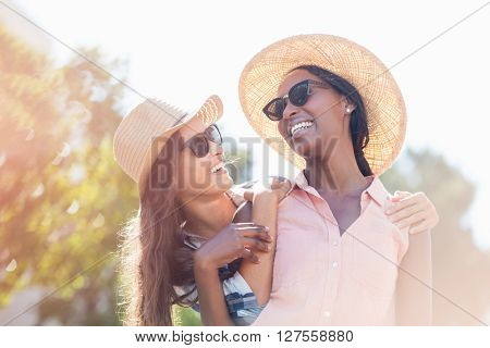 Young women in sunglasses having fun