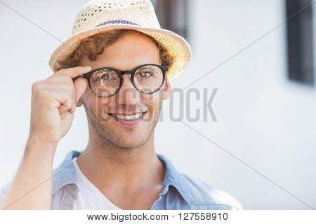Portrait of young man in spectacle smiling