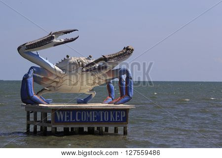 A Giant Crab Statue