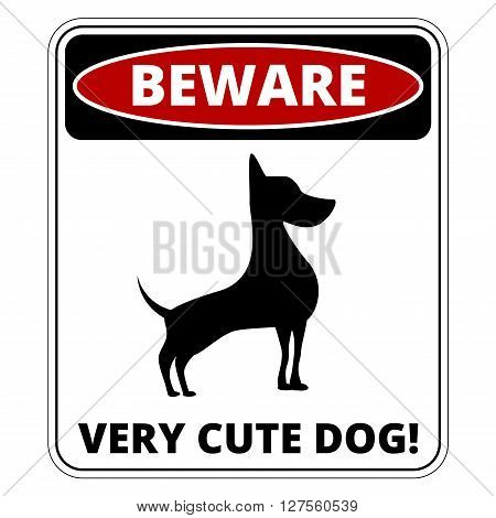 Very Cute Dogs  Signs Humorous Comic Labels and Plates Collection. Vector Illustration