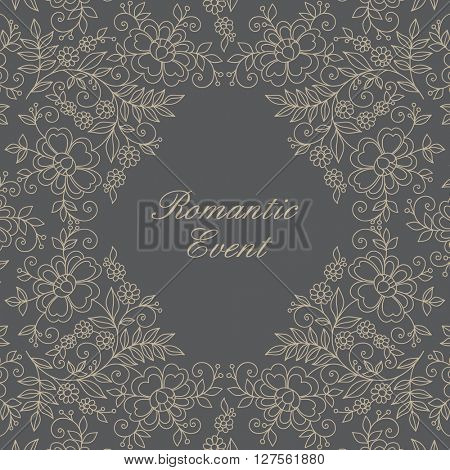 Elegant ornamental frame. Invitation card.