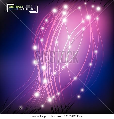 Swoosh Line Certificate Abstract Background