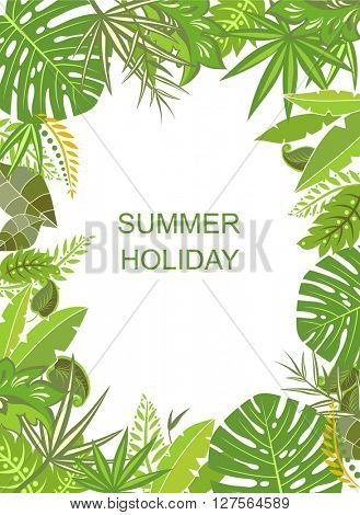 Tropical green vertical poster