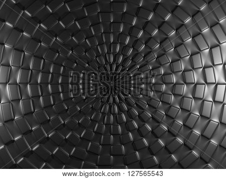 Black Background With Square Elements.