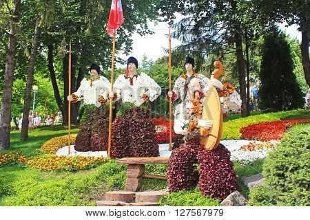 KYIV, UKRAINE - AUGUST 31, 2014: Annual traditional 59 flower exhibition