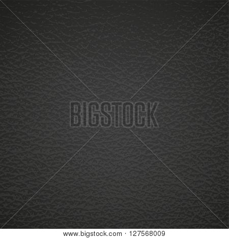 Leather texture on black. Vector eps10 illustration