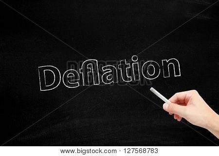 Deflation written with chalk