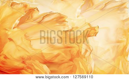 Abstract Fabric Flame Background Artistic Waving Cloth Fractal Pattern