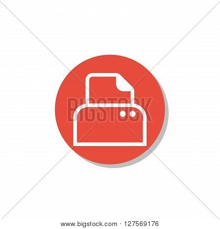 Printer Icon In Vector Format. Premium Quality Printer Symbol. Web Graphic Printer Sign On Red Circl