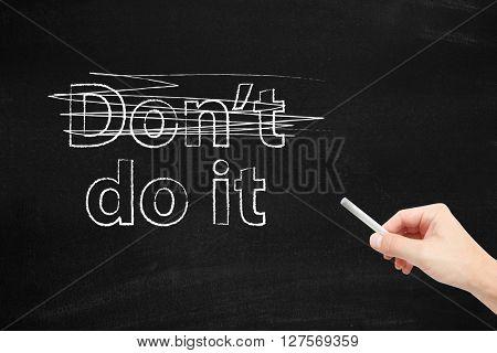Do it written on a blackboard