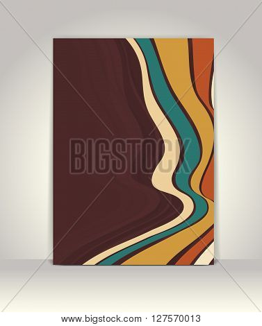 Flyer Or Brochure Template, Abstract Retro Design