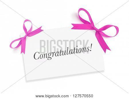 Congratulations on white