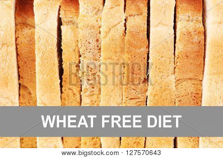 Sliced bread background. Health and diet concept