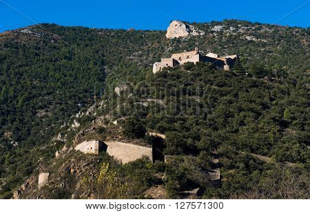 Fort Liberia. Villefranche-de-conflent In The Pyrenees-orientales In France