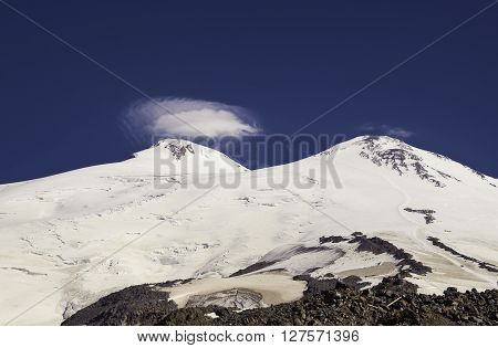 Mount Elbrus in the Caucasus, Russian Federation