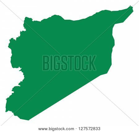 Vector Map of Syria in the Middle East
