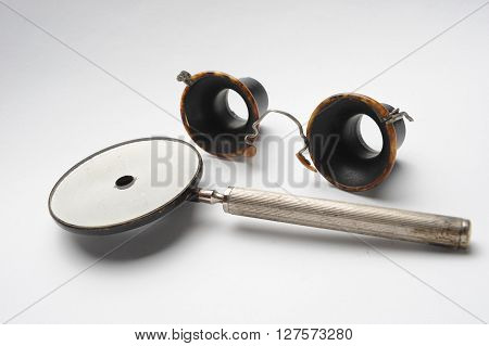 Vintage ophthalmological equipment for determining visual acuity