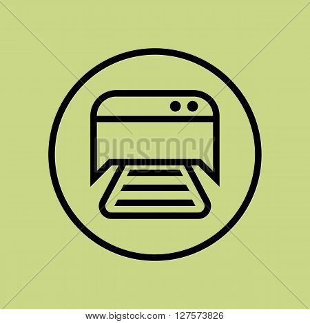 Printer Icon In Vector Format. Premium Quality Printer Symbol. Web Graphic Printer Sign On Green Cir