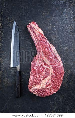 Dry Aged Kobe Tomahawk Steak
