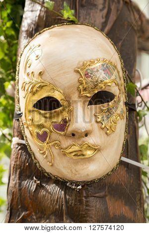 Beautiful elegant venetian mask