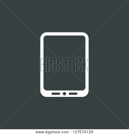 Tablet Icon In Vector Format. Premium Quality Tablet Symbol. Web Graphic Tablet Sign On Dark Backgro