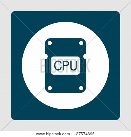 Cpu Icon In Vector Format. Premium Quality Cpu Symbol. Web Graphic Cpu Sign On Blue Background.