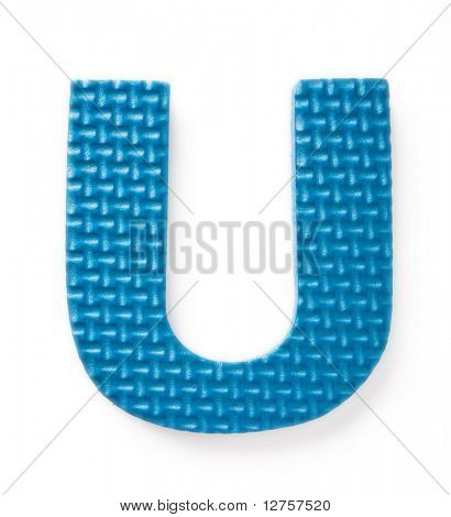 Letter S isolated on the white background