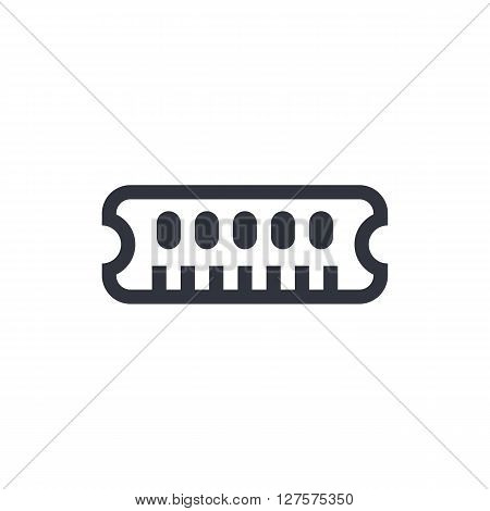 Ram Icon In Vector Format. Premium Quality Ram Symbol. Web Graphic Ram Sign On White Background.
