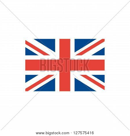 Vector Image of The British Flag.United Kingdom Flag vector illustration