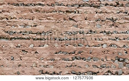 View of a sand brickstone wall as a background XXL