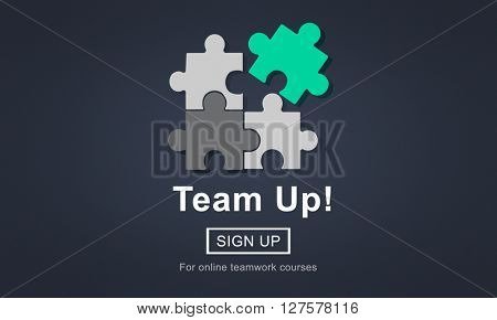 Team Up Teamwork Collaboration Togetherness Concept