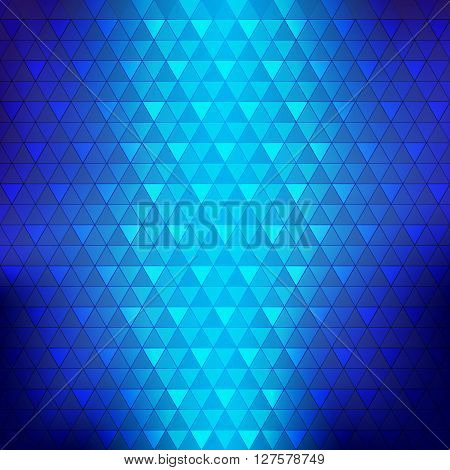 Abstract background blue continuous triangle geometry element vetor illustration eps10