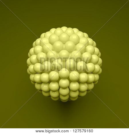 Sphere. 3d Vector Template. Abstract Illustration. 3d Abstract Spheres Composition.