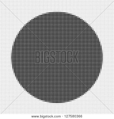 Circle. The simple geometric pattern of black squares with shadowed frame. Set of dot patterns. Halftone pattern for the posters banners leaflets flayers presentations