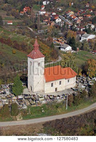 VUGROVEC, CROATIA - NOVEMBER 07: Parish Church of Saint Michael in Vugrovec, Croatia on November 07, 2007
