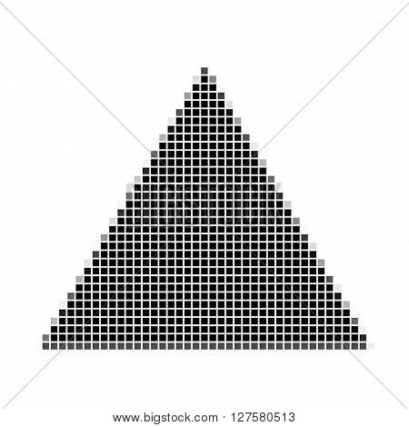 Triangle. The Simple Geometric Pattern Of Black Squares With Shadowed Frame. Set Of Dot Patterns. Ha