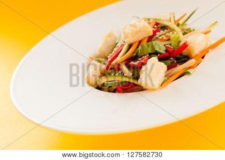 salad with tofu