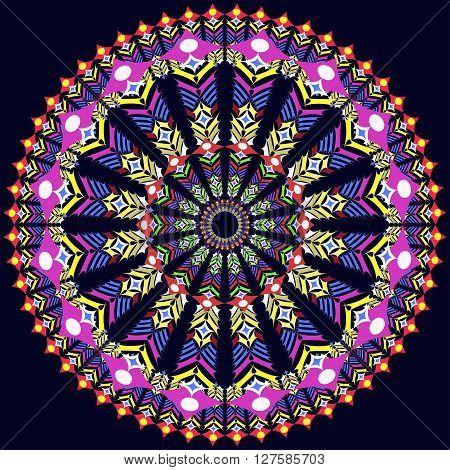 illustration round Ornament Pattern. Geometric circle element
