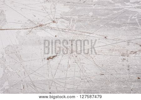 Grey coated steel grunge background with scratches
