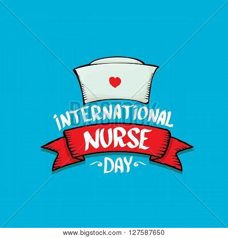 International nurse day vector greeting card or background
