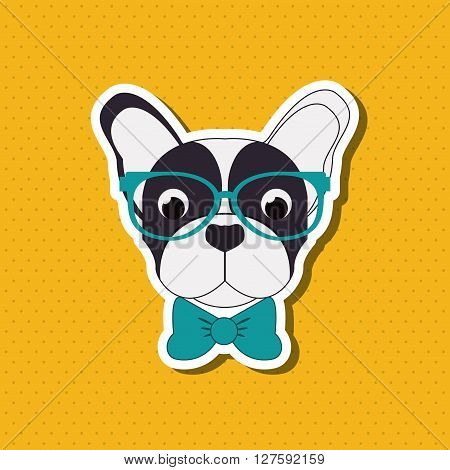 French bulldog concept with icon design, vector illustration 10 eps graphic.