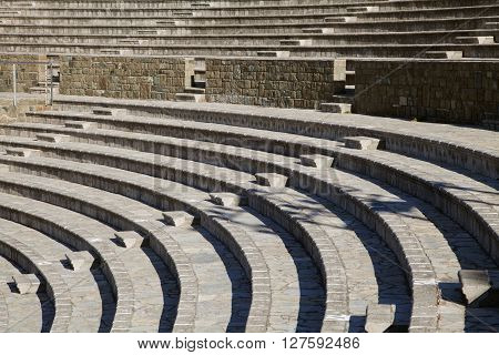 New amphitheater in Marmaris, Turkey, abstract architecture